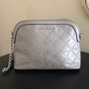 Michael Kors Cindy Studded Leather Crossbody